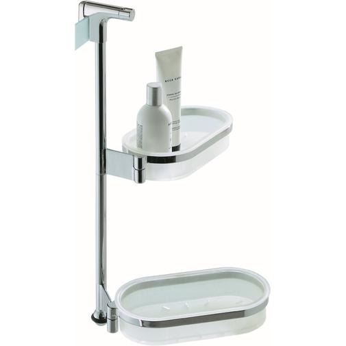 Accessorio porta oggetti per box doccia in plastica con finiture cromate - Gipsy, Colombo Design