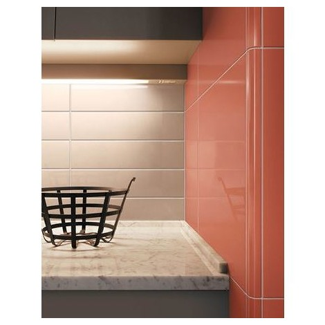 Angolo esterno in ceramica grigio lucido B9 Cleverone 2x40 cm - Colore & Colore, Ceramica Bardelli