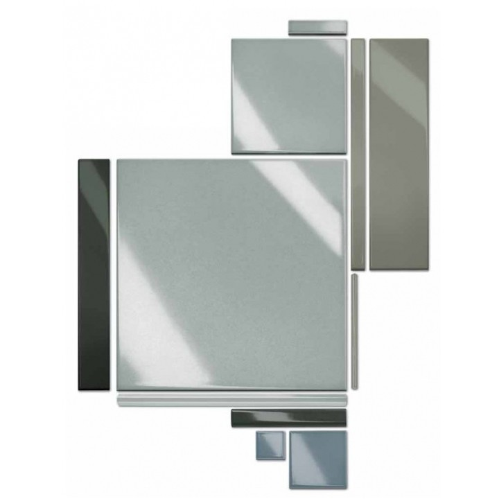 Angolo esterno in ceramica khaki lucido A2 Cleverone 2x40 cm - Colore & Colore, Ceramica Bardelli