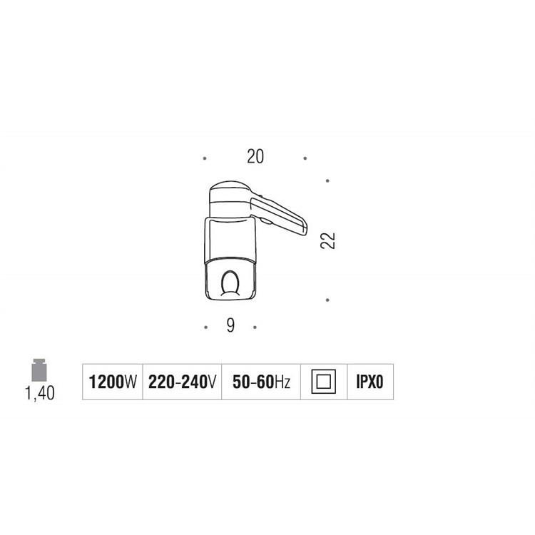 Asciugacapelli a filo completo di presa universale 220V bianco da muro - Colombo Design