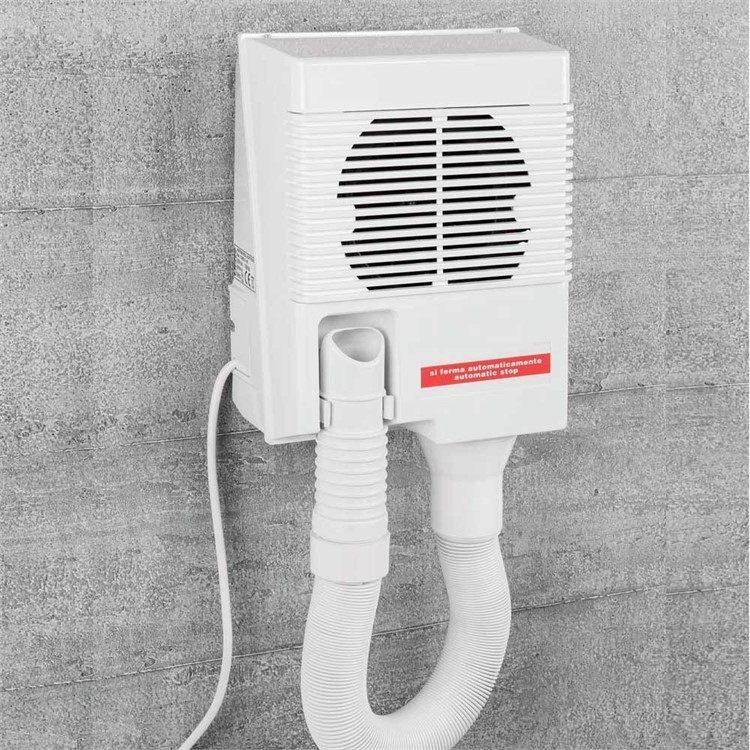Asciugacapelli con tubo flessibile bianco da muro - Colombo Design