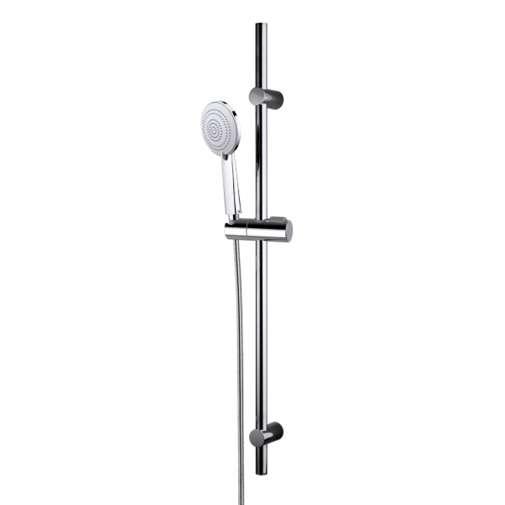 Asta doccia cromata, soffione anticalcare, altezza 90 cm - Bossini
