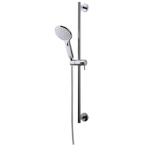 Asta saliscendi 70 cm, con doccetta diametro 12 cm a risparmio acqua e flessibile antitorsione - Agua Life, Bossini