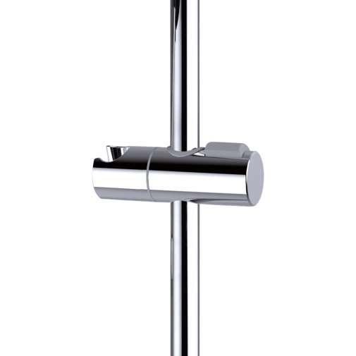 Asta saliscendi 90 cm, con supporti regolabili, doccetta diametro 12 cm a 6 getti e flessibile antitorsione - Syncronia, Bossini