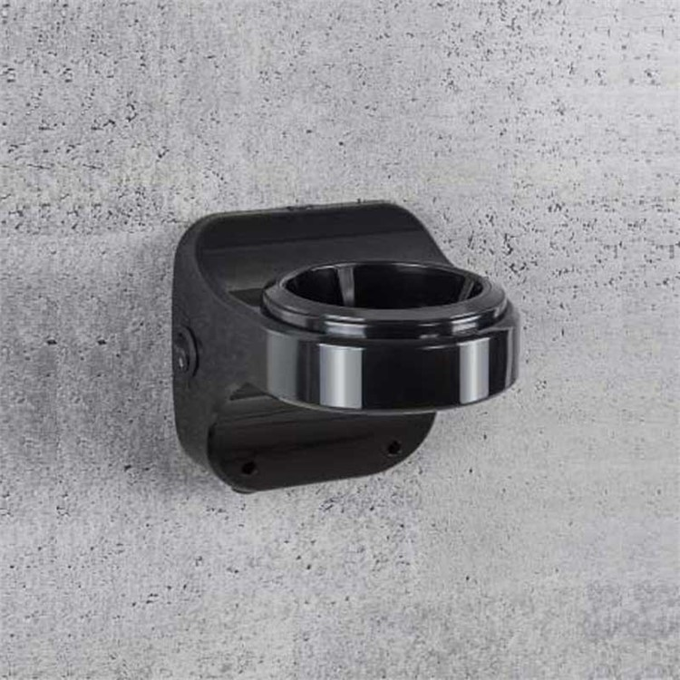 """Base da muro per asciugacapelli collezione """"Fit"""" completo del tasto accensione e funzione antitaccheggio colore nero - Colombo Design"""