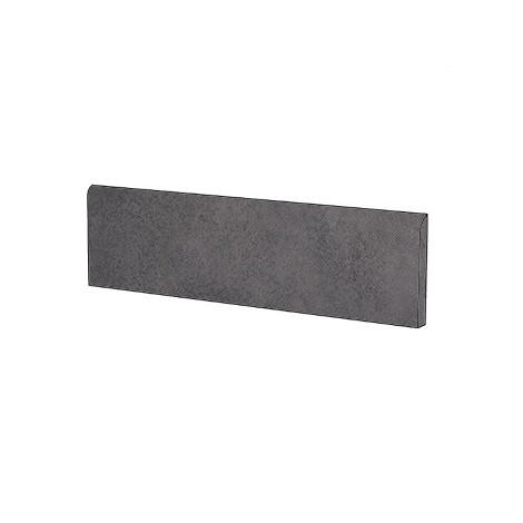 Battiscopa effetto cemento Antracite 9x60 cm, rettificato - Entropia, Dom Ceramiche