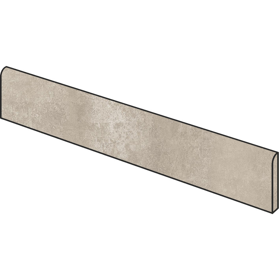Battiscopa effetto cemento Beige 5x75 cm, rettificato - Entropia, Dom Ceramiche