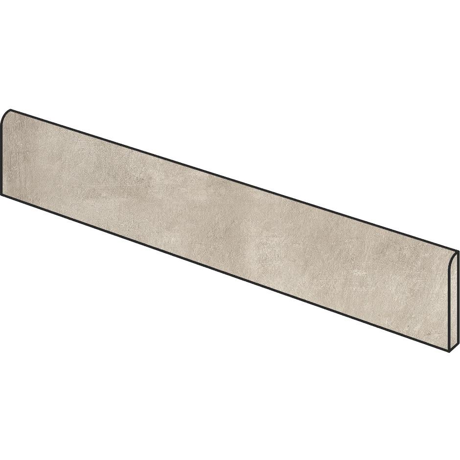 Battiscopa effetto cemento Beige 9x59,5 cm, rettificato - Entropia, Dom Ceramiche