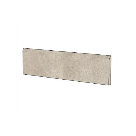 Battiscopa effetto cemento Beige 9x60 cm - Entropia, Dom Ceramiche