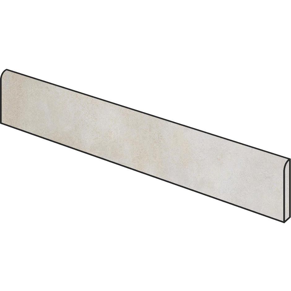 Battiscopa effetto cemento Bianco 5x75 cm, rettificato - Entropia, Dom Ceramiche
