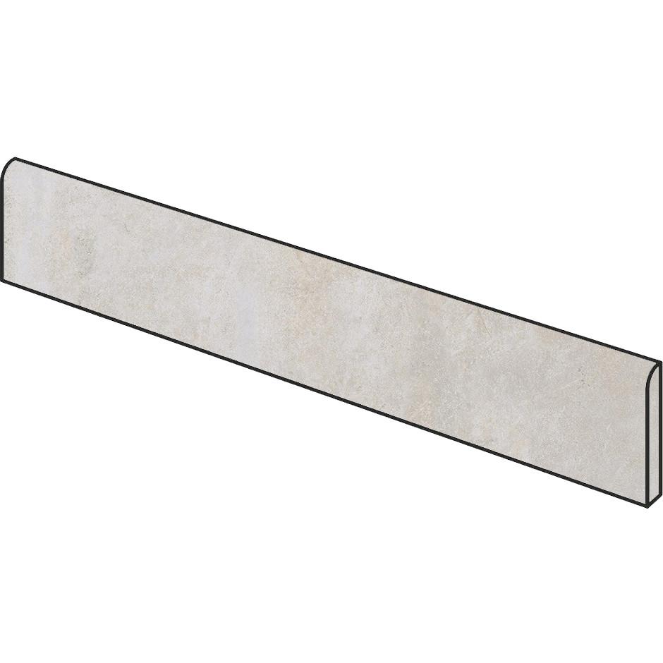 Battiscopa effetto cemento Bianco 9x59,5 cm, rettificato - Entropia, Dom Ceramiche