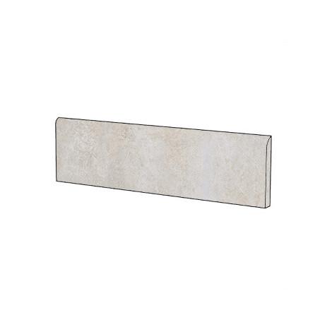 Battiscopa effetto cemento Bianco 9x60 cm - Entropia, Dom Ceramiche