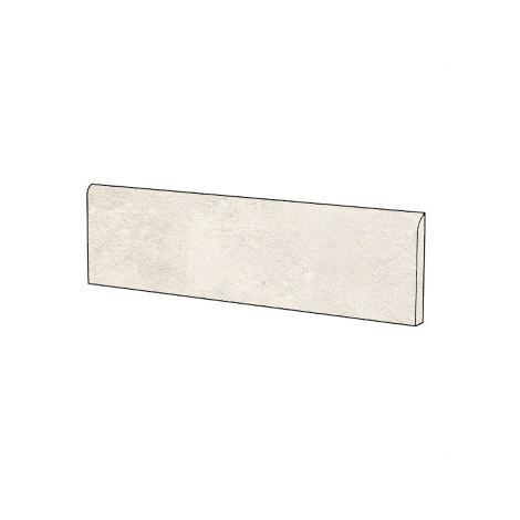 Battiscopa effetto cemento bianco 9x60 cm White - Uptown, Dom Ceramiche