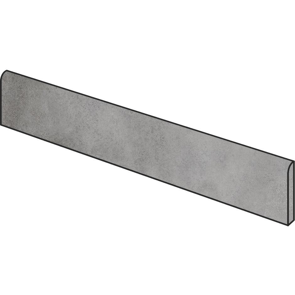 Battiscopa effetto cemento Grigio 5x75 cm, rettificato - Entropia, Dom Ceramiche