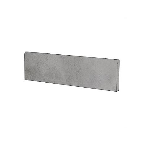 Battiscopa effetto cemento Grigio 9x60 cm - Entropia, Dom Ceramiche