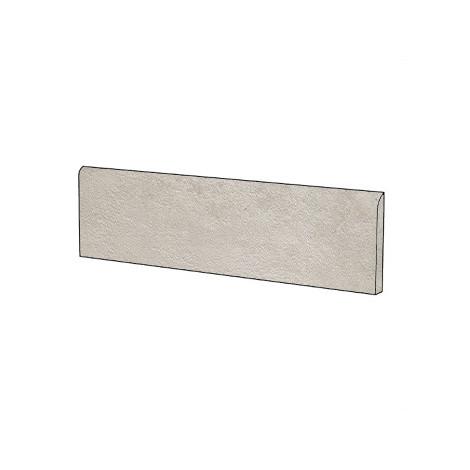 Battiscopa effetto cemento grigio argento 9x60 cm Silver - Uptown, Dom Ceramiche