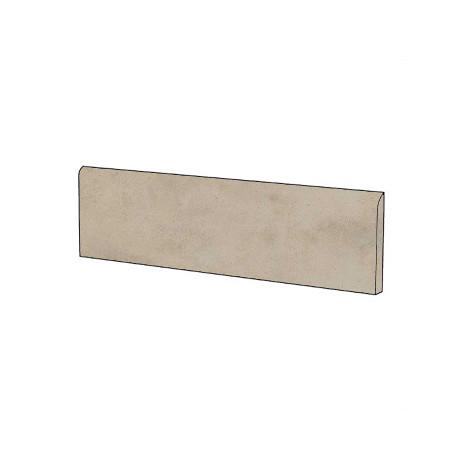 Battiscopa effetto cemento grigio beige 7x90 cm, Greige - Entropia, Dom Ceramiche