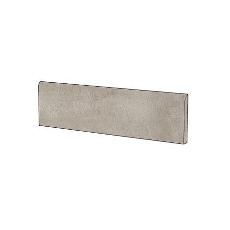 Battiscopa effetto cemento grigio beige 9x60 cm, Greige - Entropia, Dom Ceramiche