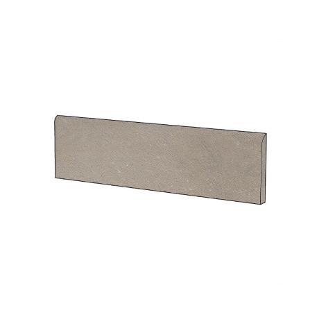 Battiscopa effetto cemento marrone 9x60 cm Lead - Uptown, Dom Ceramiche