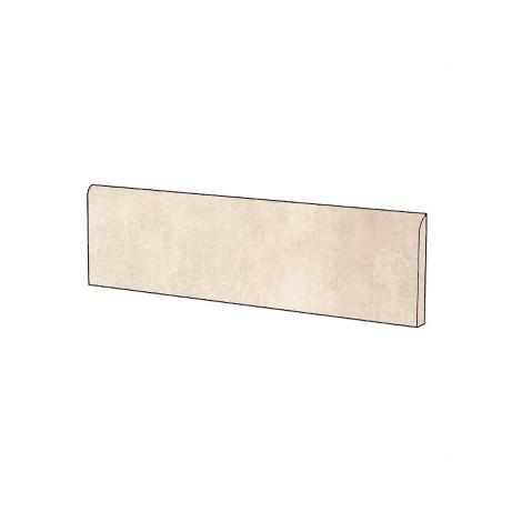 Battiscopa effetto cemento moderno in gres porcellanato colore Avorio 9x75,5 cm - Beton, Casalgrande Padana