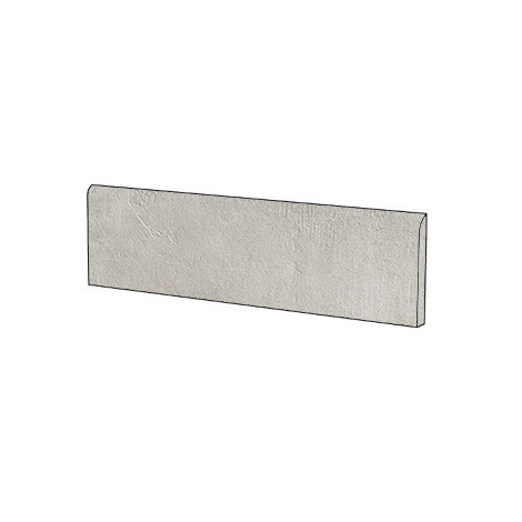 Battiscopa effetto cemento moderno in gres porcellanato colore Factory 56 10x60 cm - Concrete Jungle, Blustyle
