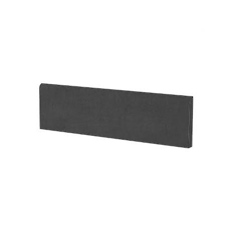 Battiscopa effetto cemento moderno in gres porcellanato colore Nero 9x75,5 cm - Beton, Casalgrande Padana