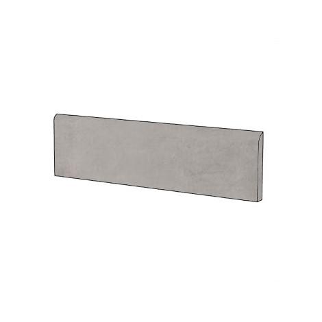 Battiscopa effetto cemento moderno in gres porcellanato colore Perla 9x75,5 cm - Beton, Casalgrande Padana