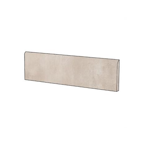 Battiscopa effetto cemento moderno in gres porcellanato colore Sabbia 9x75,5 cm - Beton, Casalgrande Padana