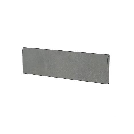 Battiscopa effetto cemento rasato i gres porcellanato moderno colore Antracite 9x75,5 cm - Cemento, Casalgrande Padana