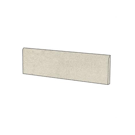 Battiscopa effetto cemento rasato i gres porcellanato moderno colore Beige 9x60 cm - Cemento, Casalgrande Padana