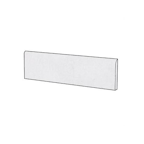 Battiscopa effetto cemento rasato i gres porcellanato moderno colore Bianco 9x75,5 cm - Cemento, Casalgrande Padana