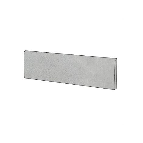 Battiscopa effetto cemento rasato i gres porcellanato moderno colore Grigio 9x75,5 cm - Cemento, Casalgrande Padana