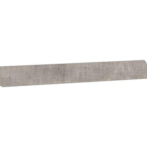 Battiscopa effetto cemento tessuto, in gres porcellanato, Dress Grey 7,3x90 cm - Set, Ceramica Sant'Agostino