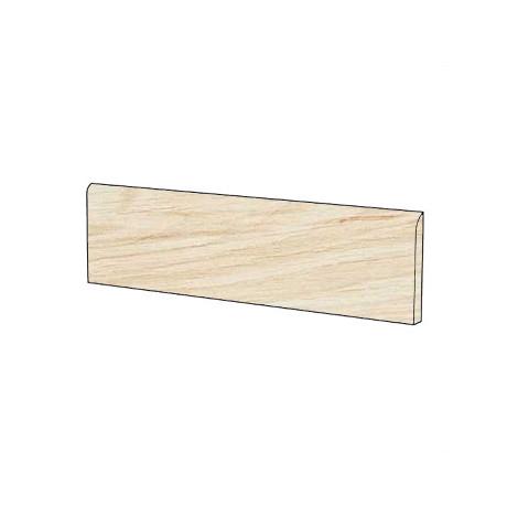 Battiscopa effetto legno chiaro sbiancato Aura in gres porcellanato 10x60 cm - Arborea, Blustyle