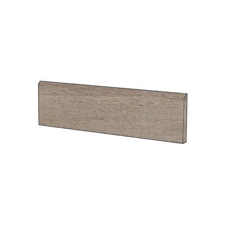 Battiscopa effetto legno in gres porcellanato color marrone chiaro, Baita, 10x60 cm - Cadore , Cotto d'este