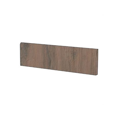 Battiscopa effetto legno in gres porcellanato colore Marrone Medio 7,5x60 cm - Tavolato, Casalgrande Padana