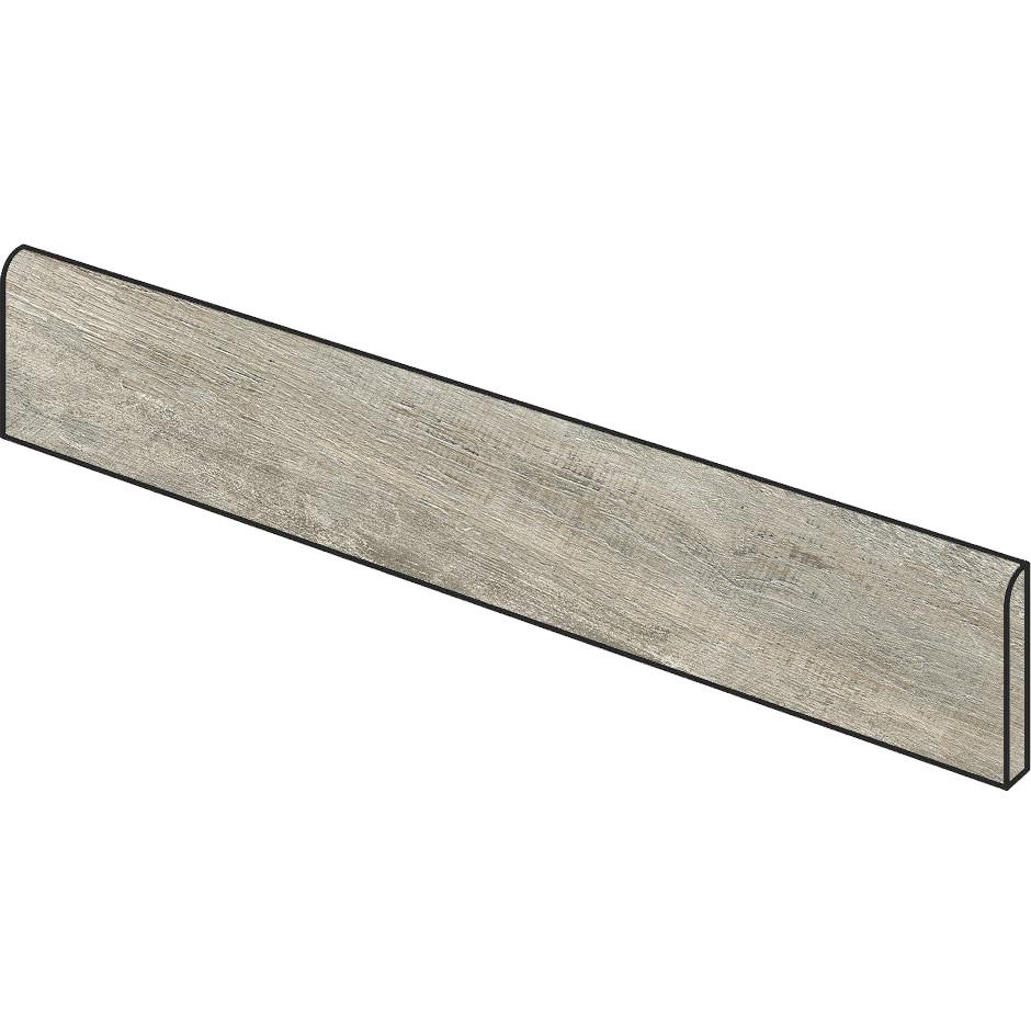 Battiscopa effetto legno invecchiato grigio 8x99,8 cm, Grey - Barnwood, Dom Ceramiche