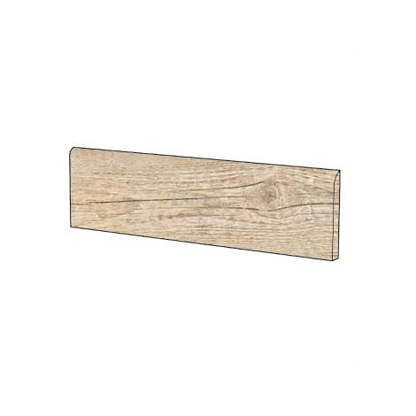 Battiscopa effetto legno rustico in gres porcellanato colore Aspen 10x60 cm - Country, Blustyle