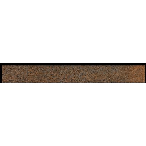 Battiscopa effetto metallo ossidato, in gres porcellanato, Copper 7,3x60 cm - Oxidart , Ceramica Sant'Agostino