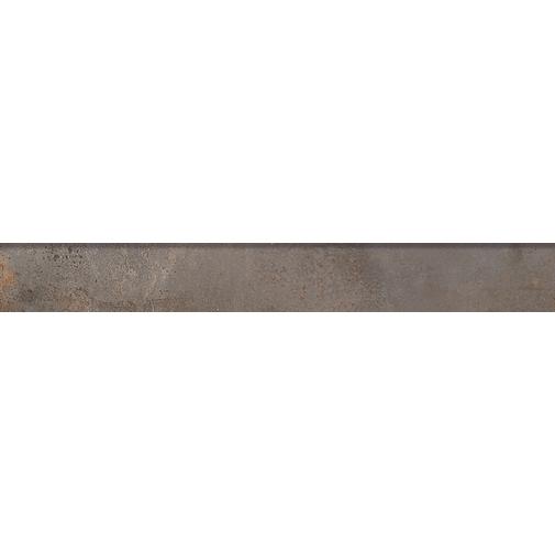 Battiscopa effetto metallo ossidato, in gres porcellanato, Iron 7,3x60 cm - Oxidart , Ceramica Sant'Agostino