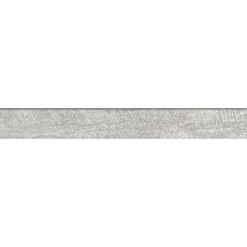 Battiscopa effetto metallo ossidato, in gres porcellanato, Silver 7,3x60 cm - Oxidart , Ceramica Sant'Agostino