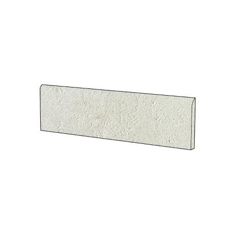 Battiscopa effetto pietra moderno in gres porcellanato colore bianco Porto Rotondo 9x60 cm - Pietre di Sardegna, Casalgrande Padana