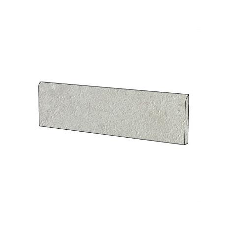 Battiscopa effetto pietra moderno in gres porcellanato colore grigio Punta Molara 9x60 cm - Pietre di Sardegna, Casalgrande Padana