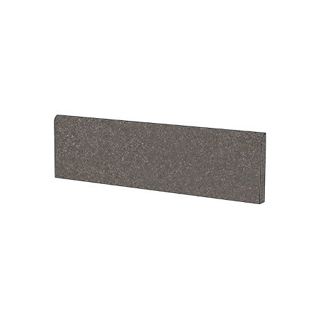 Battiscopa effetto pietra semilucido colore grigio scuro Dark 5,7x60 cm - Geotech, Blustyle