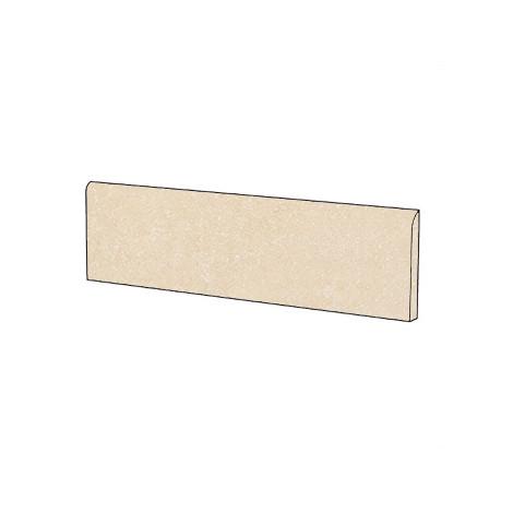 Battiscopa effetto pietra semilucido colore Ivory 5,7x60 cm - Geotech, Blustyle