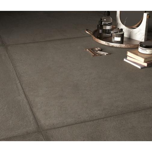 Battiscopa effetto resina grigio scuro, rettificato, 9x59,5 cm  Tin - Comfort R, Dom Ceramichea