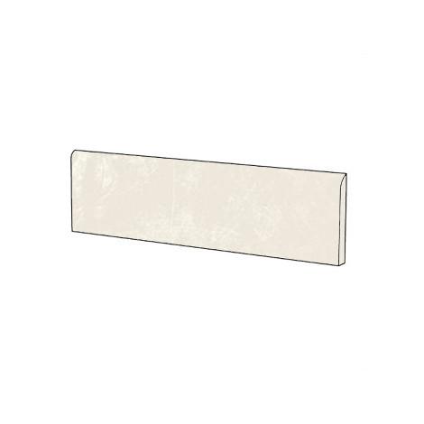 Battiscopa effetto resina in gres porcellanato colore Bianco 9x90 cm - Resina, Casalgrande Padana