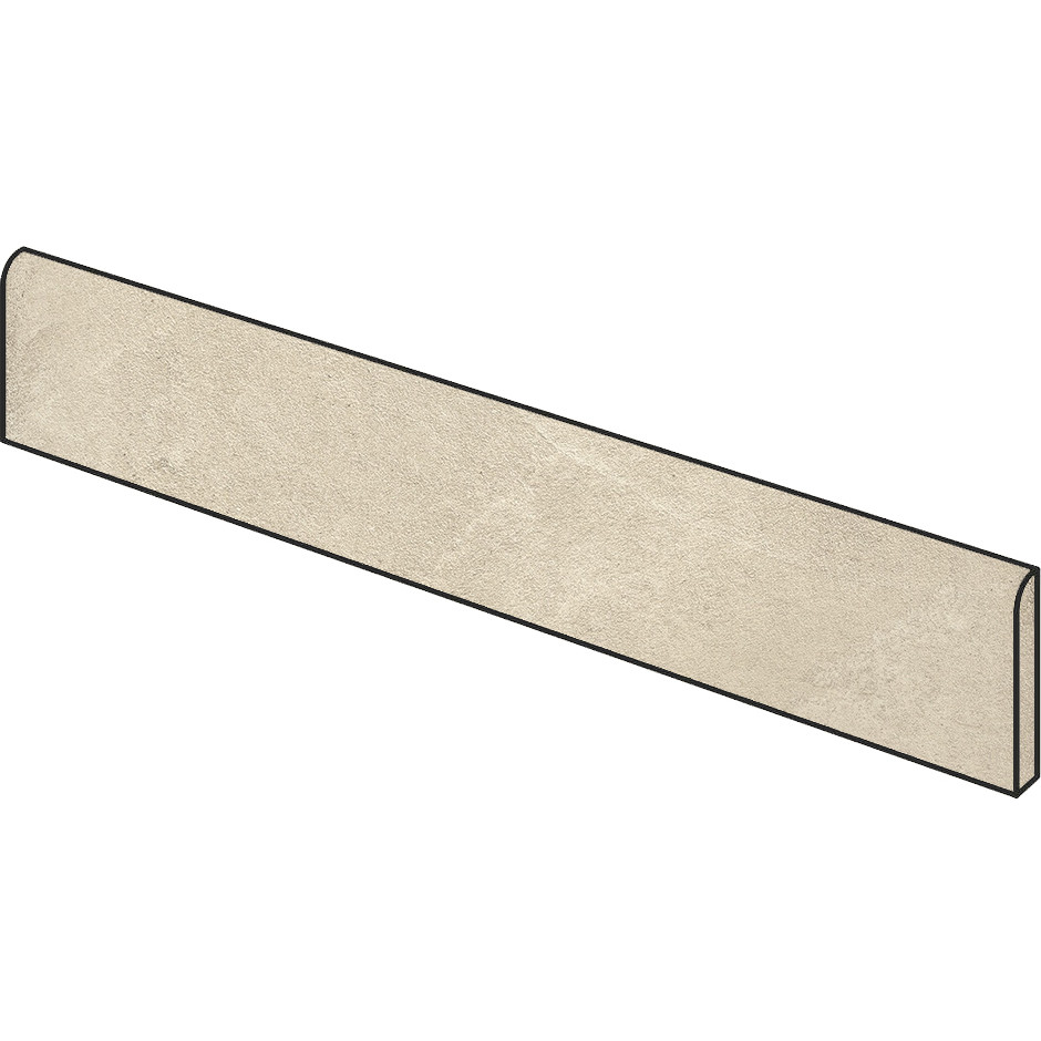 Battiscopa effetto resina, rettificato, 7x90 cm Beige - Comfort R, Dom Ceramiche