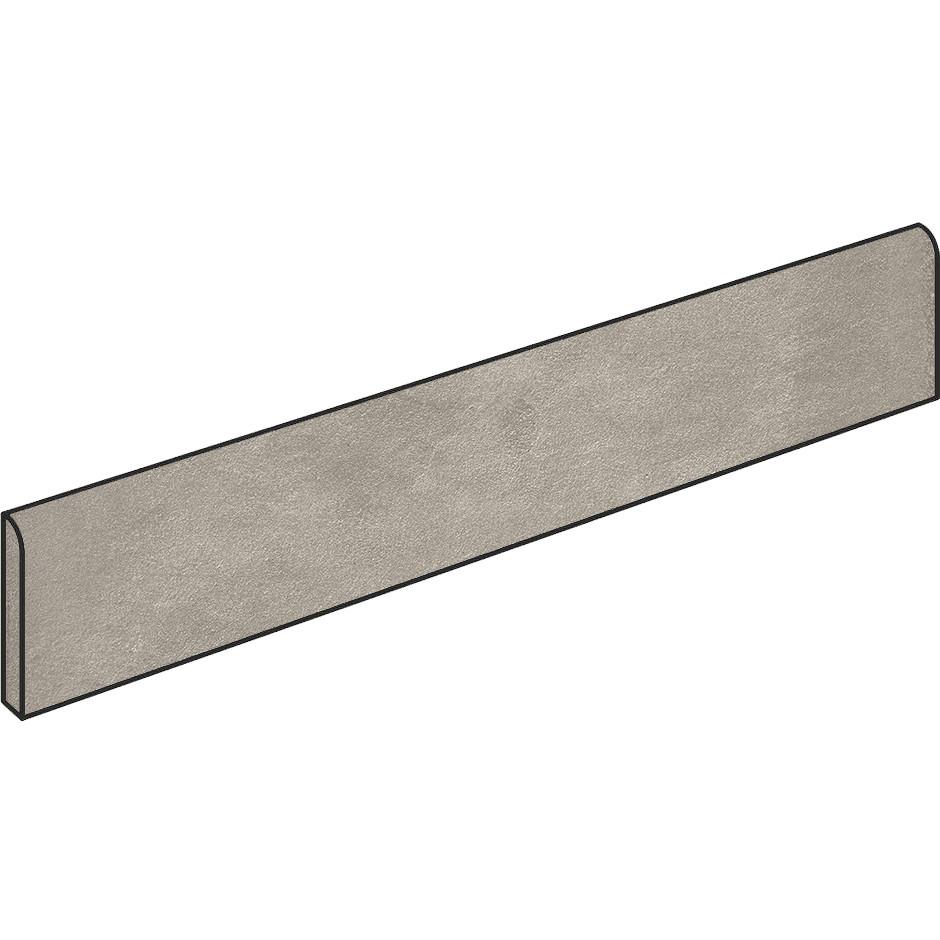 Battiscopa effetto resina, rettificato,  9x59,5 cm, grigio Ash - Comfort R, Dom Ceramicha