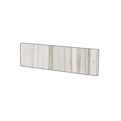 Battiscopa elegante effetto marmo in gres porcellanato lucido colore Zebrino 9x59 cm - Marmoker, Casalgrande Padana